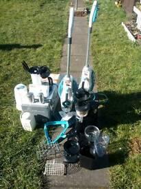 Job lot: Vax Steamer, kettles, juicer, glass pots