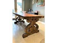 ⭐⭐ One-of-a-Kind Handmade Rustic Monastery Dining Table + Chairs ⭐⭐