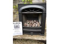 Gazco Radiant coal effect gas fire to fit standard size fireplace