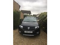 Dacia Sandero Stepway 2013. 0.9 Amblience tce. Petrol. Black. Only 20000 miles. Good runner