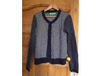 Dickens & Jones Cardigan Spotty Lovely Fabric Size M