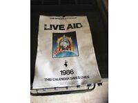 Official live aid calendar July 13th 1985