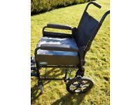 """Lomax wheelchair 17"""" with cushion"""