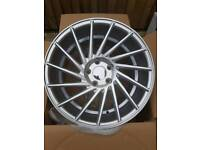 "Brand new 17"" vossen style alloy wheels 5x112 staggered"