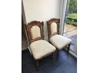 Dining chairs antique x 4