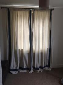 Curtains and curtain poles x2
