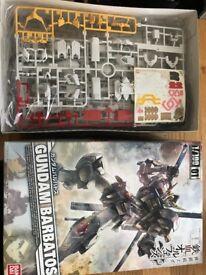 Gundam Barbatos, Action figure, New in box. Build yourself, action figure & weapon.