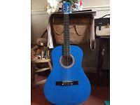 Sparkly blue guitar