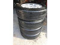 4 x 108 Peugeot Alloys Wheels & Tyres - 6mm - 7mm tread