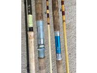 Vintage Cork Handle Carp Fishing Rods