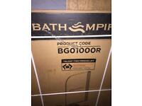 Straight Bath Screen & Towel Rail - 1000mm - 4mm