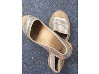 My very worn summer work shoes