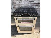 New ex display BELLING Classic 60 cm Gas Cooker - Cream & Black £350 price