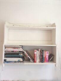 White wood shelves shabby chic vintage