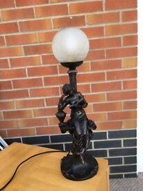 Bronze colour table lamp.