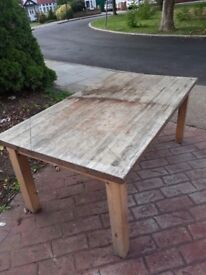 Solid Pine Wood Dining Table (Free)