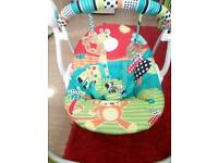 Bright stars up, up & away portable swing