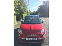 Stunning Red Fiat 500 Lounge 2012 , 1242 cc