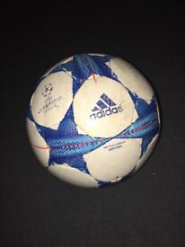 Adidas 'champions league' white and blue foorball size 5