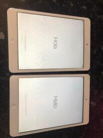 2 x apple iPad mini
