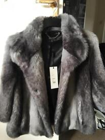 Faux fur coat ladies