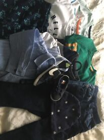 Bundle baby boys clothes 9-12 and 12-18 months
