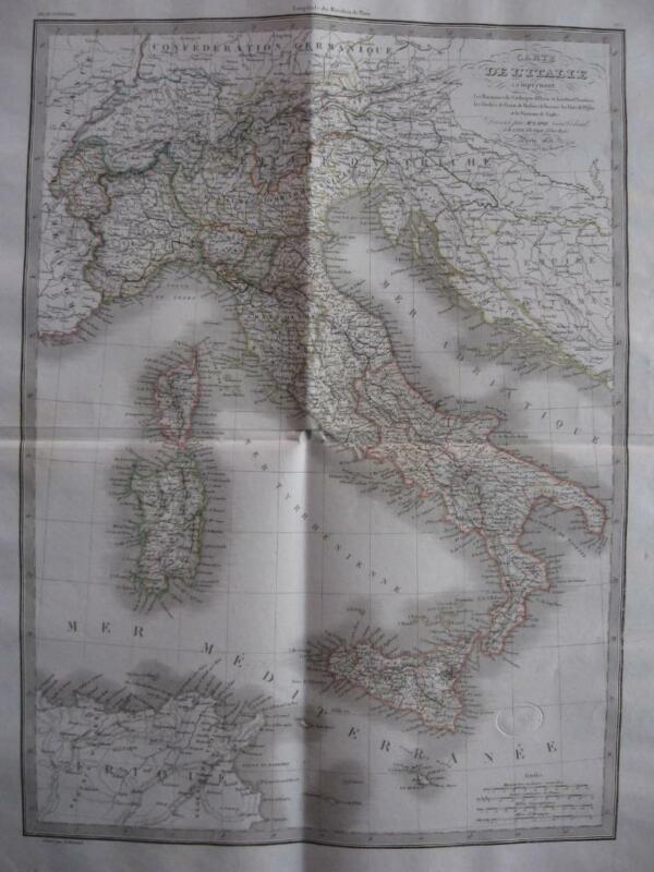 1831 - LAPIE - Large map ITALY  Italia