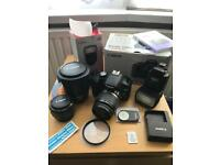 Canon Camera 500d with Lenses and Flash (18-55,200, 50)