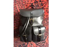 Aspinal of London rucksack. Brand new, never been used. Black leather. RRP £599.00.