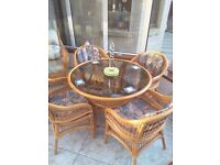 Table, Chairs, Couch and Armchairs for conservatory