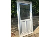 White Glazed PVC Door
