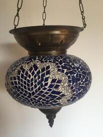 Turkish Moroccan Style Mosaic Hanging Lantern
