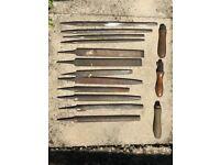 Vintage Antique Carpenter's hand files tools