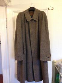 Vintage Burberry Men's Pure Wool Overcoat