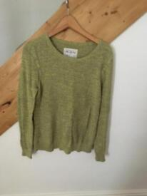 Aubin + wills green jumper L