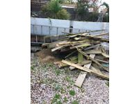 Bonfire wood free colection must colect