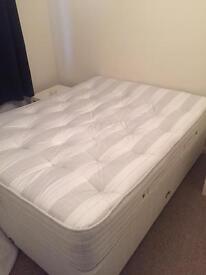 King size bed and mattress divan