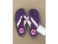 New Girls Purple Gumbies Islander Flip Flops Sandals Size 13