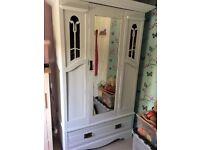 Old Edwardian rosewood wardrobe