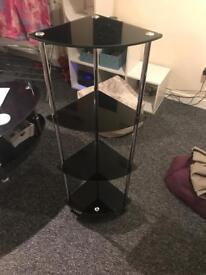 2x glass corner shelfs far sale