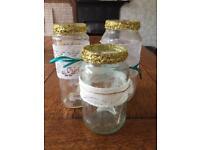 Candle holders wedding jars