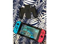 Nintendo Switch neon blue/red