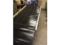 Black Mineral Felt Torch on SBS Roofing IKO Cap Sheet 8 m x 1 m 4kg (seconds - Missing stones)