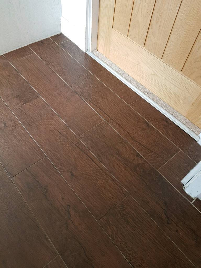 Glazed Porcelain Floor Tiles Wood Effect X 8 Boxes All Containing