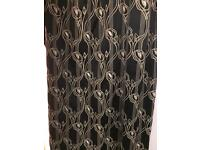 Pair Charles Rennie Mackintosh curtains
