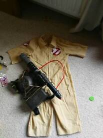 Ghost buster outfit and back pack