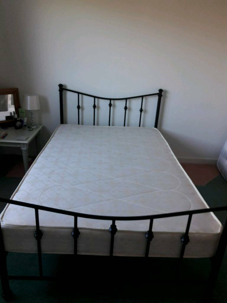 Sold Lovely Black Metal Bedframe Small Double In Bangor
