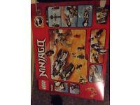 Lego. 2 boxes full and a large Lego ninjago set 70595. Box and instructions