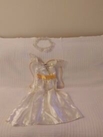 Angel dress, with wings and halo age 3 to 4 years
