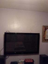 Samsung 50 inch plasma tv and bracket